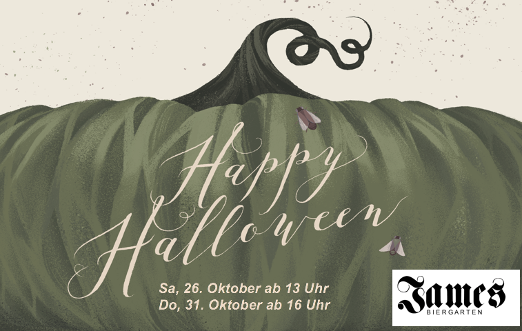 Halloween im James Biergarten
